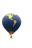 Hot air balloon flying in the air Royalty Free Stock Photos