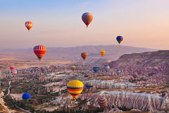 Free Hot Air Balloon Flying Over Cappadocia Turkey Stock Photos - 34837223