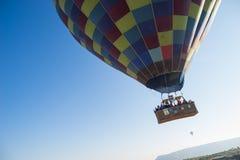 Hot air balloon flying over Cappadocia Royalty Free Stock Photo