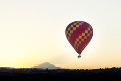 Hot air balloon. Is flying over Cappadocia in Turkey royalty free stock image