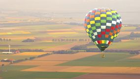 Hot air balloon flying stock video footage