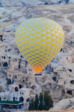 Hot air balloon flying over goreme Royalty Free Stock Image