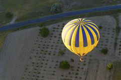 Hot Air Balloon Flying. A photo of a hot air balloon in flight Royalty Free Stock Images