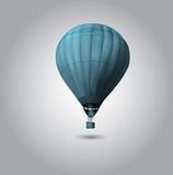 Hot air balloon flying at sunrise Stock Images