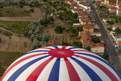 Hot Air Balloon Flying Royalty Free Stock Photography