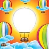 Hot air balloon frame Stock Photography