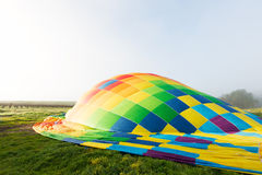 Hot air balloon getting ready Royalty Free Stock Photography