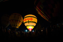 Hot Air Balloon Glow Royalty Free Stock Photography