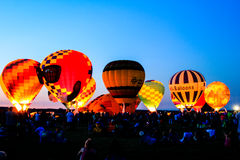 Hot air balloon glow in Ohio Stock Photo
