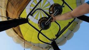 Hot air balloon going up stock video