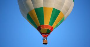 Hot air balloon gondola with the crew royalty free stock image