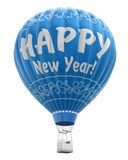 Hot Air Balloon with Happy New Year (clipping path included) Royalty Free Stock Image