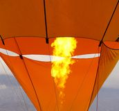 Hot air balloon heating up Stock Photography
