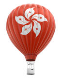 Hot Air Balloon with Hong Kong Flag (clipping path included) Stock Photo