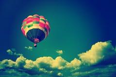 Hot air balloon. Vitage style royalty free stock photos