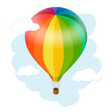 Hot air balloon icon. Flat 3d vector isometric illustration hot air balloon. Hot air balloon icon. Flat 3d vector isometric illustration hot air balloon Royalty Free Stock Photo