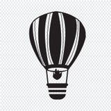 Hot air balloon icon Royalty Free Stock Photos