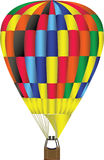 Hot Air Balloon Illustration. Illustration of a Colorful Hot Air Balloon royalty free illustration