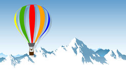 The hot-air balloon Stock Photo
