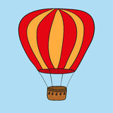 Hot air balloon.  illustration Royalty Free Stock Photography