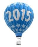 Hot Air Balloon with 2015  Stock Photos