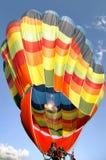 Hot air balloon inflating Royalty Free Stock Photography