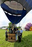 Hot air balloon inflating for launch Stock Photos