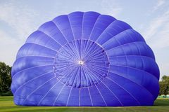Hot air balloon inflation. Royalty Free Stock Photo