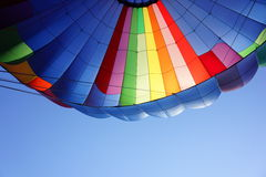 Hot air balloon. From inside Royalty Free Stock Image