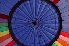 Hot air balloon. From inside Royalty Free Stock Photography