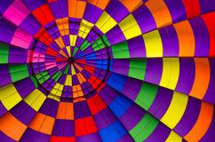 Hot air balloon inside background. Multi colored hot air balloon view from inside Stock Photography