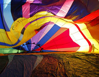 Hot Air Balloon Inside Patterns Royalty Free Stock Photography