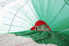 Hot Air Balloon, inside view. From ballon Royalty Free Stock Photo