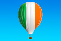 Hot air balloon with Ireland flag, 3D rendering Royalty Free Stock Photos