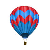 Hot air balloon isolated. Illustration of hot air balloon on blank surface Royalty Free Stock Photography