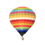 Hot air balloon isolated white Stock Images