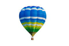 Hot air balloon isolated on white. Background Stock Images