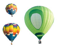Hot air balloon isolated on white background. Colorful Hot air balloon isolated on white background Royalty Free Stock Photography
