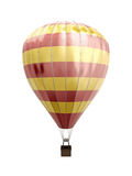 Hot air balloon. Isolated on white background. 3d illustration Stock Image