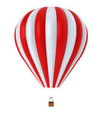 Hot Air Balloon. Isolated on white background. 3D render Stock Photography