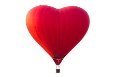 Hot air balloon isolated on white with clipping path Stock Image
