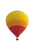 Hot air balloon isolated on white with clipping path Royalty Free Stock Photo