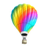 Hot air balloon isolated on white. 3d illustration Royalty Free Stock Images