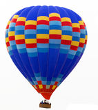 Hot air balloon isolated on white Stock Images