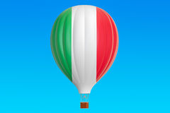 Hot air balloon with Italian flag, 3D Stock Photos