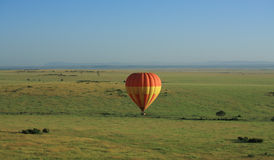 Hot air balloon in Kenya Royalty Free Stock Photo