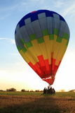 Hot Air Balloon landing Royalty Free Stock Images