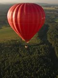 Hot air balloon and landscape Stock Photos