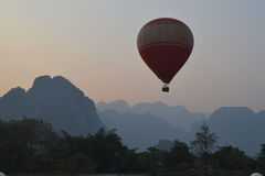 Hot Air Balloon in Laos Royalty Free Stock Photography