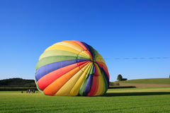 Hot air balloon launch Royalty Free Stock Photo